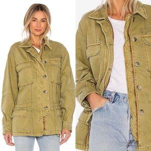 NEW Free People Seize the Day Military jacket